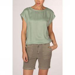 Yaya T-Shirt Fabric Mix Lichtgroen