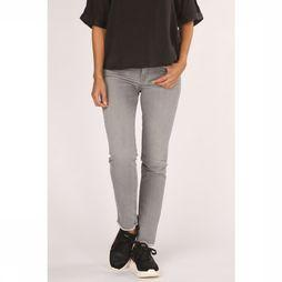 Yaya Jeans Basic Straight Denim With Raw Edges Lichtgrijs