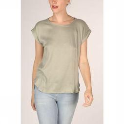 Yaya T-Shirt Fabric Mix Rounded Hems Lichtgroen