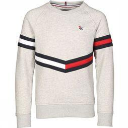 Tommy Hilfiger Pullover Essential Flag Crew Light Grey Mixture