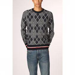 Tommy Hilfiger Pullover Tipped Two Color Argyle dark blue/mid grey