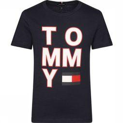 Tommy Hilfiger T-Shirt Multi Application Aw S/S Donkerblauw