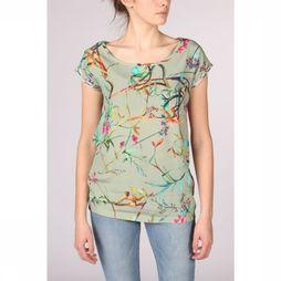 Geisha Shirt 93136-20 light green/Assortment Flower