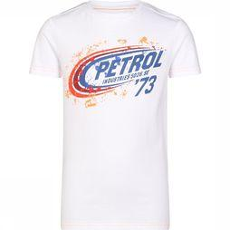 Petrol T-Shirt Ss R-Neck Wit