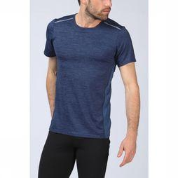 Skiny T-Shirt Active Per4mance Short Sleeve Marineblauw