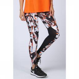 Skiny Legging Long Running Oranje/Assortiment Geometrisch