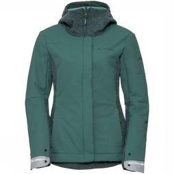 Vaude Softshell Cyclist Padded Donkergroen/Groen