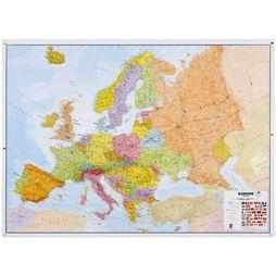 Maps International Europe political laminated with hanging strips 2019