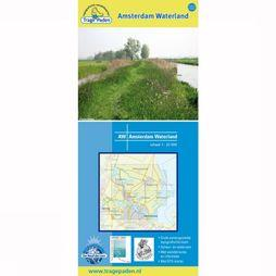 TRAGE PADEN Amsterdam Waterland topographical hinking map 2012