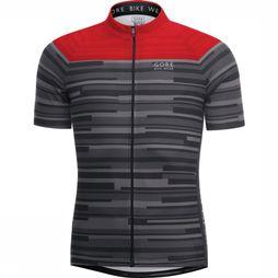 Gore Bike Wear T-Shirt E Stripes Zwart/Middenrood