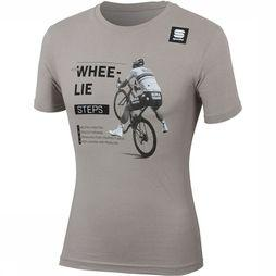 Sportful T-Shirt Sagan Whee-Lie Tee Middengrijs