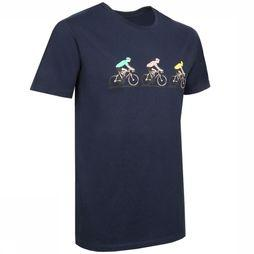 The Vandal T-Shirt Tin Cyclists Donkerblauw