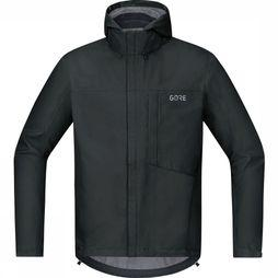 Gore Wear Coat C3 Gore-Tex Paclite Hooded black