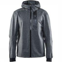 Craft Manteau Ride Rain Gris Moyen/Noir