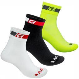 GripGrab Kous Tricolor Regular Cut Socks Bundle Assortiment