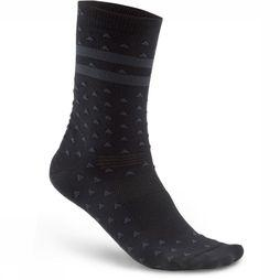 Craft Sock Pattern black/mid grey