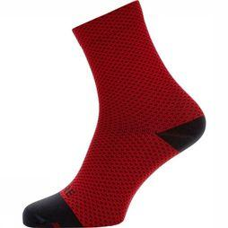 Gore Wear Sock C3 Dot Mid red/black