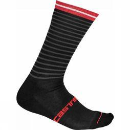 Castelli Sock Venti black/mid red