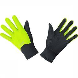 Gore Wear Glove Windstopper black/mid yellow
