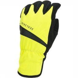 Sealskinz Handschoen All Weather Cycle Wp Zwart/Middengeel