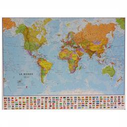 Maps International Map Monde Politique + drapeaux 2016