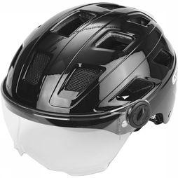Abus Bicycle Helmet Hyban + Clear Visor black