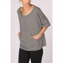 PlayPauze T-Shirt Mar Stripes Noir/Blanc