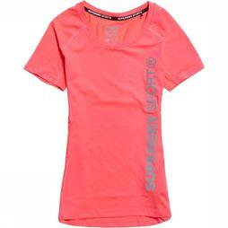 Superdry T-Shirt Core Fitted Mesh dark pink