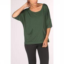 PlayPauze T-Shirt Moon Green Black mid green