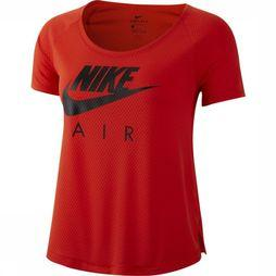 Nike T-Shirt Air Ss Top Mesh Rouge