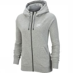 Nike Pull NSW Essential FZ Fleece Gris Clair Mélange