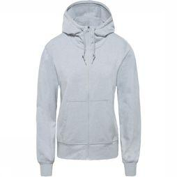 The North Face Pull Women'S Ascential Full Zip Gris Clair Mélange