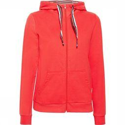 Esprit Pull Cardigan Sweat Solid Rouge
