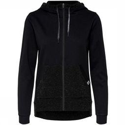 Only Play Trui Bellatrix Glitter Zip Hood Zwart