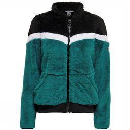 Only Play Pullover Fluffy Colorblock Petrol/Black