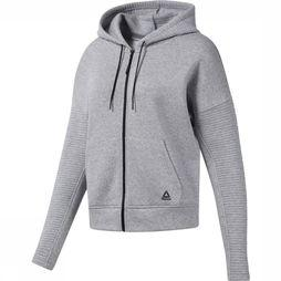 Reebok Pullover Workout Ready Hooded Light Grey Mixture