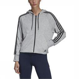 Adidas Pull Must Haves 3-Stripes French Terry Gris Clair Mélange