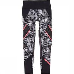 Superdry Legging Active Mesh Zwart/Wit