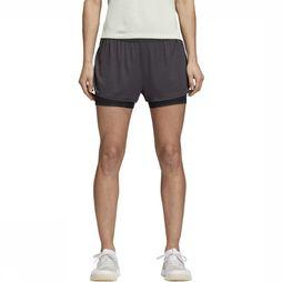 Adidas Short 2In1 Chill Donkergrijs Mengeling