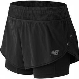 "New Balance Shorts Impact 4"" black"