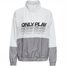 Only Play Jas Sunset Highneck Anorak Wit/Zwart