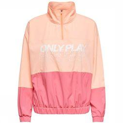 Only Play Coat Sunset Highneck Anorak dark pink/mid pink