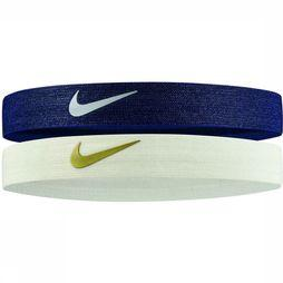 Nike Equipment Bandeau Shines 2 Pack marine/Blanc Cassé