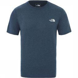 The North Face T-Shirt Reaxion Amp Crew Blauw