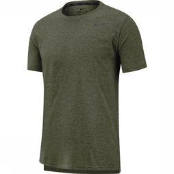 Nike T-Shirt Nike Breathe Middenkaki