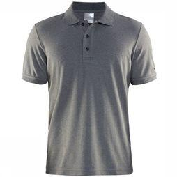Craft Craft Polo Piqué Dark Grey Mixture