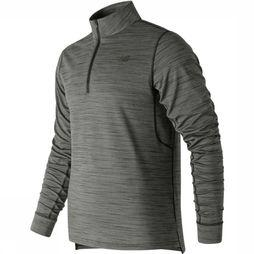 New Balance Pullover Anticipate 2.0 Quarter Zip Light Grey Mixture