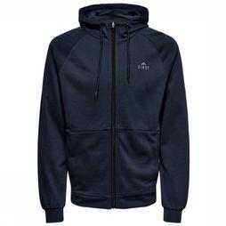 First Pullover Falcon Zip Hood Marine