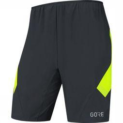 Gore Wear Short R5 2In1 Zwart/Geel