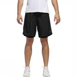 Adidas Short Own The Run 2N1 Zwart